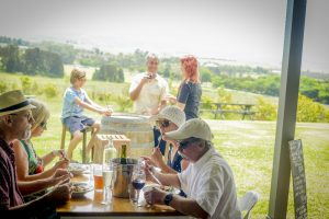 A Berry Wine Tasting Day Tour having lunch at Mountain Ridge Winery Restaurant