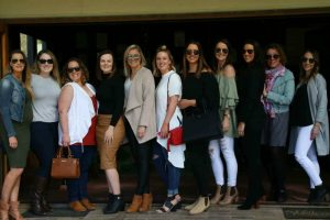 A group of girls enjoying a wine tasting at Cambewarra Estate on Sydney Wine Tasting Tour