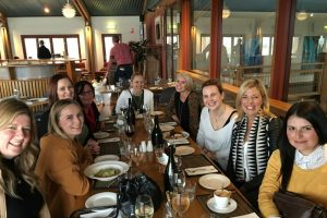 A tour group enjoying lunch at Southern Highland Winery on a Southern Highlands Wine Tasting Day Tour