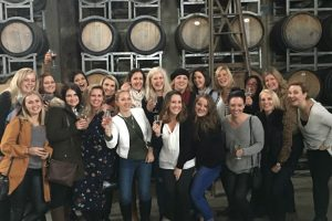 Tour group at Eling Forest Winery on a Sydney Wine Tour for a Hens Party
