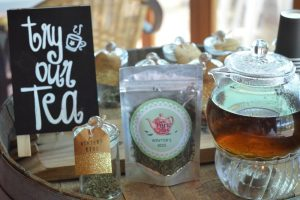 A photo of a selection of tea's which are available on a High Tea in the Vines at Cambewarra Estate