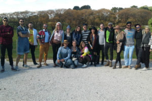 A group of friends on a wine tour