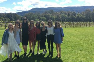 A group of girls at Cambewarra Estate Winery