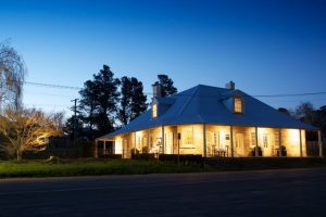 Southern Highlands Winery Tour at Eschalot Restaurant at dusk