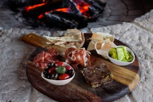 Local produce platter at bendooley Estate on the one of the Best Sydney Tours