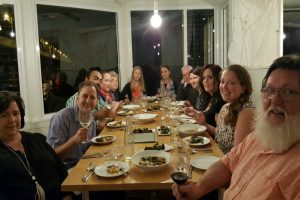 Group at Wharf Road Nowra enjoying a 5 course shared banquet on a Wollongong Wine Tour and Dinner Experience