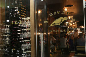 The Night Parrot Bar and Kitchen's entrance on Crown Street Wollongong